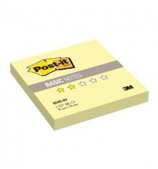 Бумага для заметок Post-it BASIC 76x76мм, канареечный желтый, 100 листов