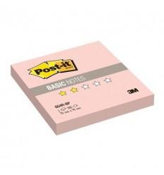 Бумага для заметок Post-it BASIC 76x76мм, розовая пастель, 100 листов