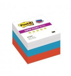 Бумага для заметок Post-it Super Sticky 654-6SSR, 76x76мм, триколор, 90 листов
