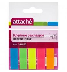 Клейкие закладки Attache, 5 цветов по 20 листов)