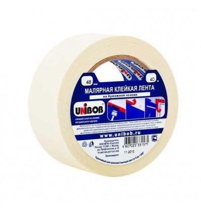 Малярная клейкая лента (бумажная), UNIBOB 48мм х40м