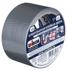 Армированная клейкая лента, UNIBOB АРМ10 48мм х10м, серая