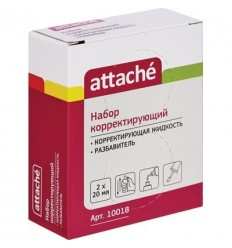 Корректирующая жидкость Attache, быстросохнущая 20 мл