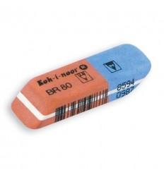 Ластик KOH-I-NOOR 6521/80, 41х14х8мм, комбинированный, каучуковый