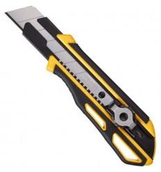 Нож канцелярский Attache Selection 25мм, с фиксатором и прорезиненным корпусом