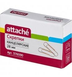 Скрепки золотистые металлические Attache 28 мм, 100 шт./уп