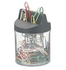 Скрепочница магнитная DURABLE, пластиковая, со скрепками цветными