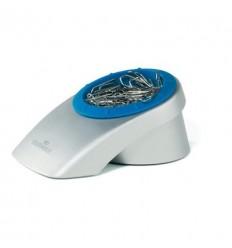 Скрепочница магнитная DURABLE Vegas, пластиковая, со скрепками, серебристая