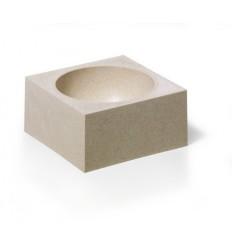 Скрепочница DURABLE Cubo Eco, пластиковая, бежевая