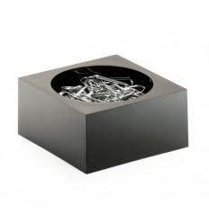 Скрепочница DURABLE Cubo, пластиковая, черная