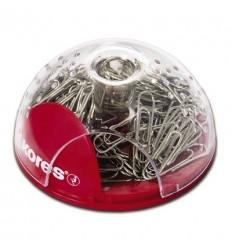 Скрепочница магнитная Kores, пластиковая со скрепками