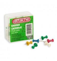 Кнопки силовые цветные Attache, 12 мм, 50 штук в упаковке Кнопки силовые цветные Attache, 12 мм, 50 штук в упаковке