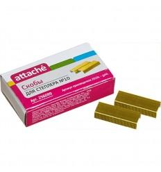 Скобы для степлера № 10 Attache, золотистые (1000 штук в пачке)