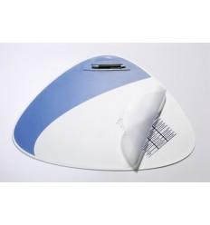 Настольное покрытие DURABLE VEGAS 7208 с прозрачным верхним листом, 690х510мм, серебристое