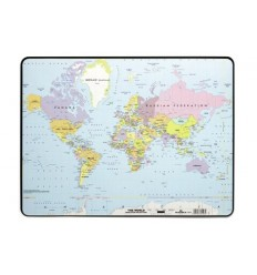 Подкладка на стол DURABLE 7211 Карта Мира, 390х440мм