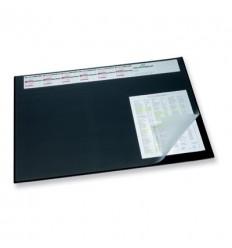 Настольное покрытие DURABLE 7204 с календарем и прозрачным верхним листом, 520х650мм, черная