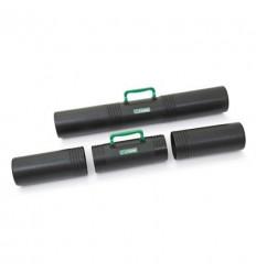 Тубус Стамм ПТ-41 с ручкой, длина 65см, диаметр 10см, 3 секции, черный