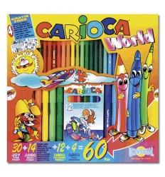 Набор для рисования CARIOCA WORLD, 64 предмета