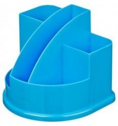 Подставка-стакан для канцелярских мелочей, ручек Attache Fantasy, 5 отделений, голубая
