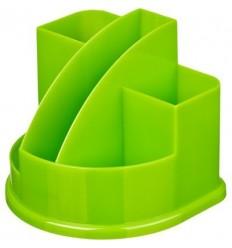 Подставка-стакан для канцелярских мелочей, ручек Attache Fantasy, 5 отделений, зеленая