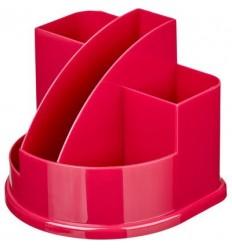 Подставка-стакан для канцелярских мелочей, ручек Attache Fantasy, 5 отделений, розовая