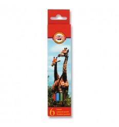 Набор цветных карандашей Koh-I-Noor 3551, 6 цветов