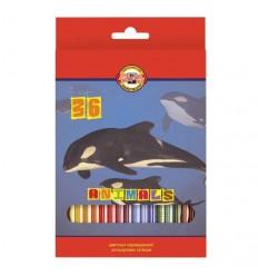 Набор цветных карандашей Koh-I-Noor 3555, 36 цветов