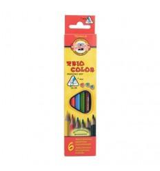 Набор цветных трехгранных карандашей Koh-I-Noor TRIOCOLOR 3131, 6 цветов