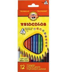 Набор цветных трехгранных карандашей Koh-I-Noor TRIOCOLOR 3132,12 цветов