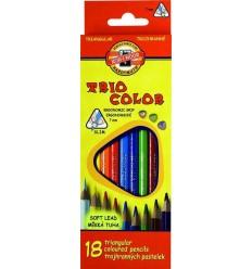 Набор цветных трехгранных карандашей Koh-I-Noor TRIOCOLOR 3133,18 цветов