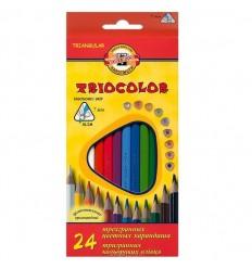 Набор цветных трехгранных карандашей Koh-I-Noor TRIOCOLOR 3134,24 цвета