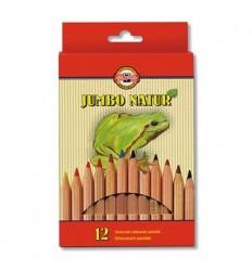 Набор цветных карандашей Koh-I-Noor Jumbo Natur 2172, 12 цветов