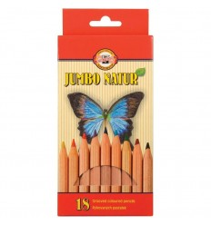 Набор цветных карандашей Koh-I-Noor Jumbo Natur 2173, 18 цветов