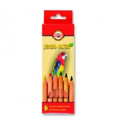 Набор цветных карандашей Koh-I-Noor Jumbo Natur 2171, 6 цветов