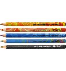 Набор карандашей с многоцветным грифелем Koh-I-Noor MAGIC 3406, утолщенный корпус, 5 карандашей разных