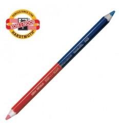 Карандаш двухцветный красно-синий, Koh-I-Noor 3423, утолщенный корпус D-9мм, 1шт