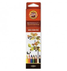 Набор акварельных цветных карандашей Koh-I-Noor MONDELUZ 3715, 6 цветов