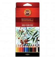 Набор акварельных цветных карандашей Koh-I-Noor MONDELUZ 3716, 12 цветов