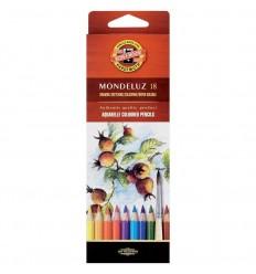 Набор акварельных цветных карандашей Koh-I-Noor MONDELUZ 3717, 18 цветов