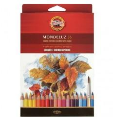 Набор акварельных цветных карандашей Koh-I-Noor MONDELUZ 3719, 36 цветов