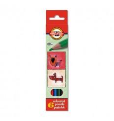 Набор цветных карандашей Koh-I-Noor 3591 КОШКИ+СОБАКИ, 6 цветов