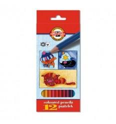 Набор цветных карандашей Koh-I-Noor 3592 КОШКИ+СОБАКИ, 12 цветов