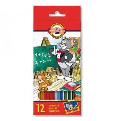 Набор цветных карандашей Koh-I-Noor 3652 ТОМ И ДЖЕРРИ, 12 цветов
