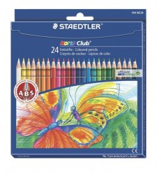 Набор цветных шестигранных карандашей STAEDTLER Noris Club, 24 цвета