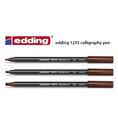 Набор каллиграфический фломастеров Edding 1255, пигментные чернила, 3шт (2.0мм, 3.5мм, 5.00мм) коричневые