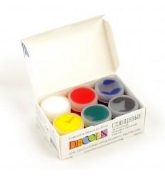 Глянцевые художественные акриловые краски DECOLA Невская Палитра, 6 цветов в банках по 20мл