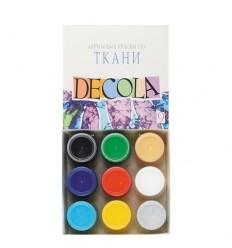 Акрил по ткани DECOLA Невская Палитра, 6 цветов в банках по 20мл