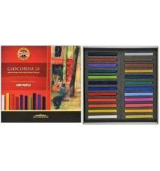 Масляная пастель твердая KOH-I-NOOR GIOCONDA 8114, L75мм, d7мм, 24 цвета