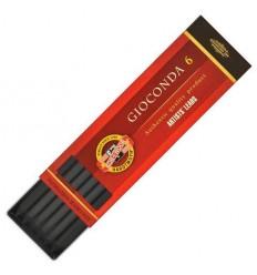 Сепия для цангового карандаша KOH-I-NOOR Gioconda 4378, темно-коричневая, 5,6 мм, 6 шт./уп