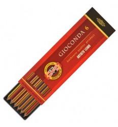 Мелки для цангового карандаша KOH-I-NOOR Gioconda MAGIC, 4376, многоцветные, 5,6 мм, 6 шт./уп